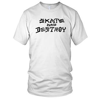 Skate og ødelegge - B&W Skateboarder Skateboard damer T skjorte