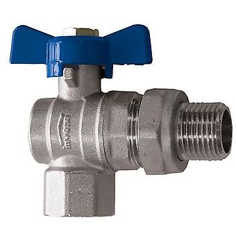 "Water Flow Rate Angled Ball Valve Butterfly Handle Female x Male 1/2"" - 1"" BSP"