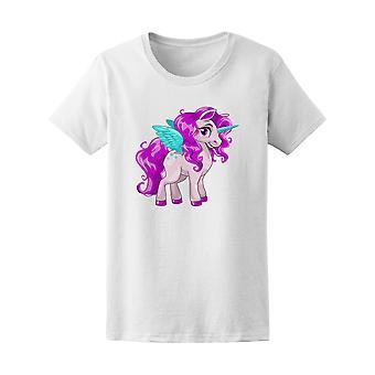 Bunte geflügelte Einhorn Pony Graphic Tee - Bild von Shutterstock