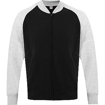 Fruit Of The Loom Mens Lightweight Unbrushed Sweatshirt Jacket