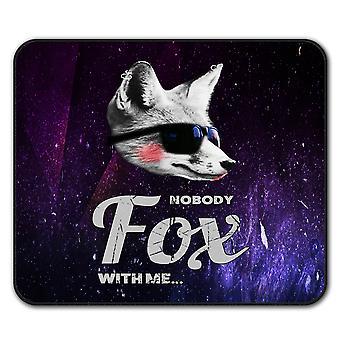 フォックス獣面白いノンスリップ マウス マット パッド 24 × 20 cm |Wellcoda