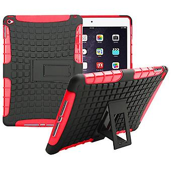 Hybrid outdoor protective cover case red for Apple iPad 2 air bag