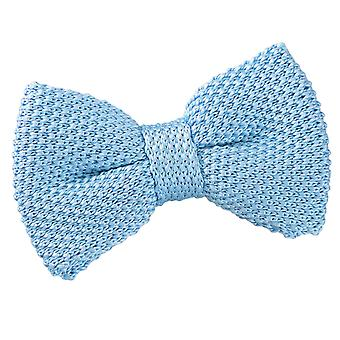 Baby Blue Knitted Pre-Tied Bow Tie for Boys