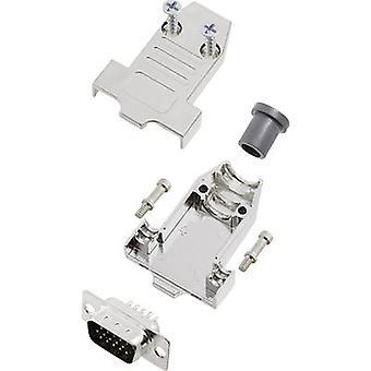 encitech DTNT09-M-HDP15-K 6355-0071-01 D-SUB pin strip set 180 ° Número de pinos: 15 Solder bucket 1 Set