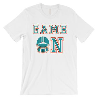 لعبة في ميامي اليوم لعبة مضحك رجالي تي شيرت قميص كم قصير المحملة