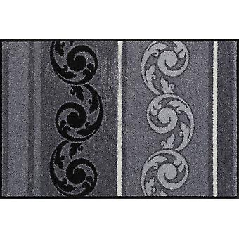 Salon lion doormat Arabesque gray washable dirt mat