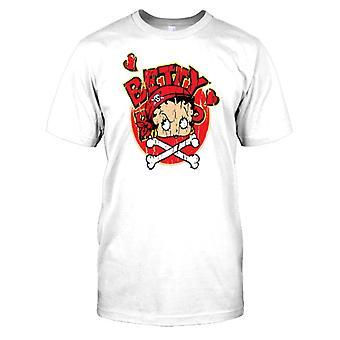 Betty Boop - pirat Skull n bein Kids T skjorte
