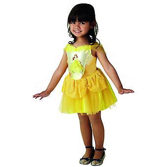 ベル バレリーナ ディズニー ドレス黄色衣装 S サイズ子供のおとぎ話カーニバル女の子