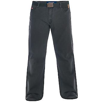 Duke London Canary Mens grand grand roi taille Bedford cordon Jeans pantalon avec ceinture