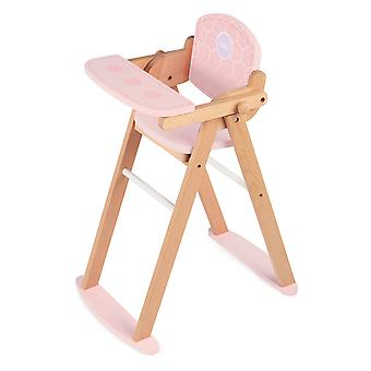 Tidlo Wooden Pretend Play Doll's High Chair Roleplay Accessories