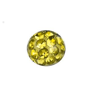 Piercing udskiftning bold, krop smykker, Multi krystal sten Citrine gul | 4, 5 og 6 mm