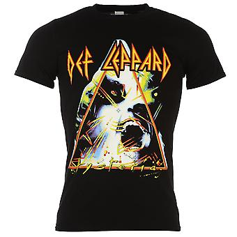Officiel Mens Def Leppard T Shirt coton manches courtes Casual Crew Neck Tee
