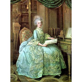 Porträt von Marie Antoinette, Lie Louis Perin-Salbreux, 50x40cm