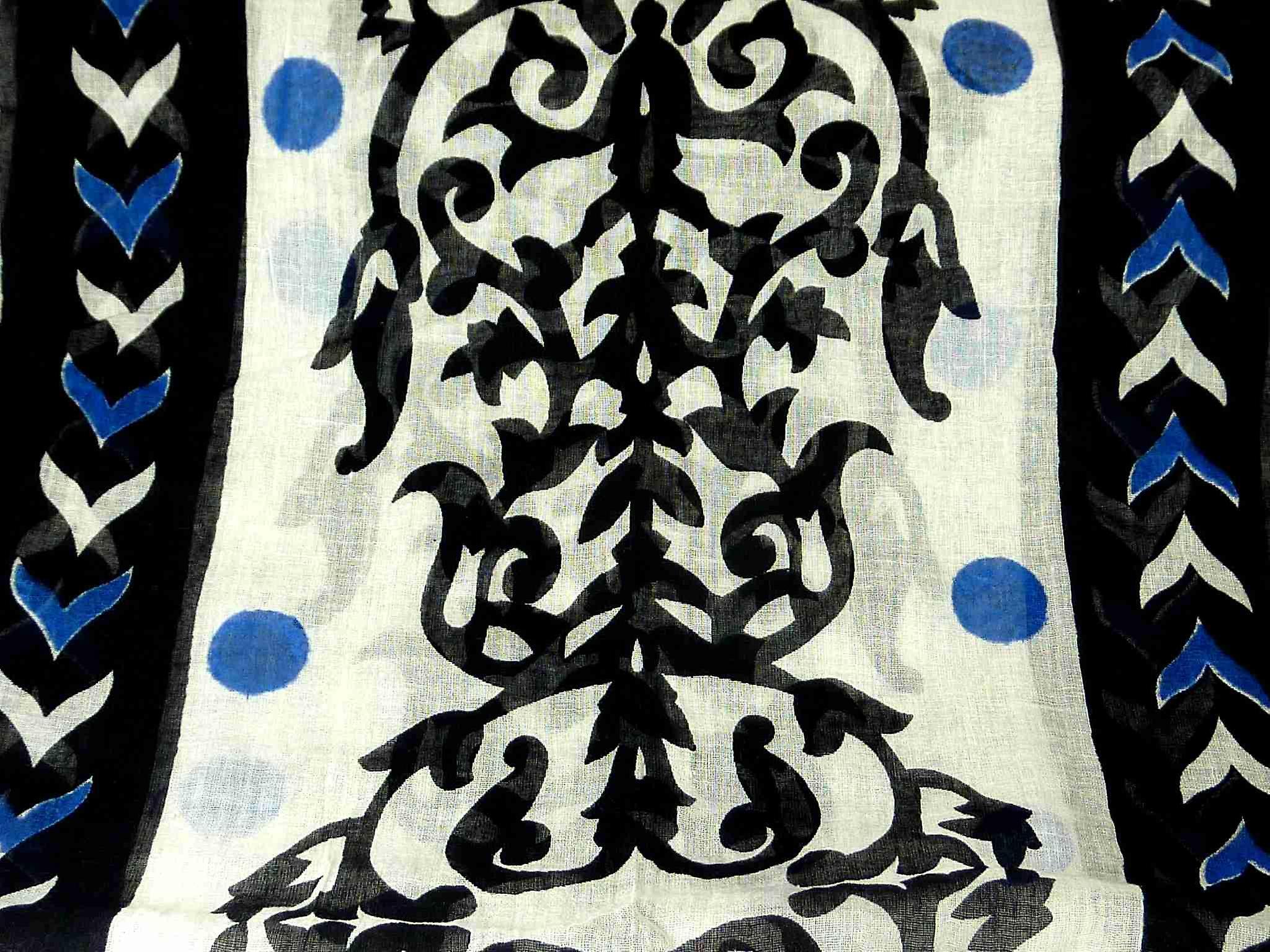Dupatta Kandolim Sarong Scarf Azure by Pashmina & Silk