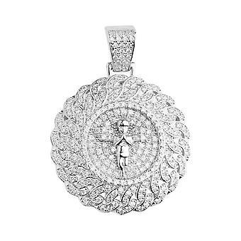 Premium Bling - 925 Sterling Silver Pendant Angel Locket