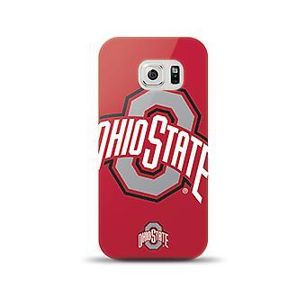 Mizco Sports NCAA Oversized Snapback TPU Case for Samsung Galaxy S6 (Ohio State Buckeyes)