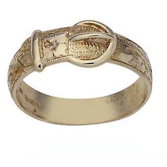 9ct Gold kézzel vésett csat Ring size Z