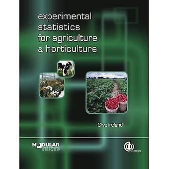 Statistiques expérimentales pour l'Agriculture et l'Horticulture
