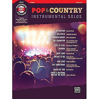 Pop & Country Instrumental Solos for Strings: Book & CD (Instrumental Solos)