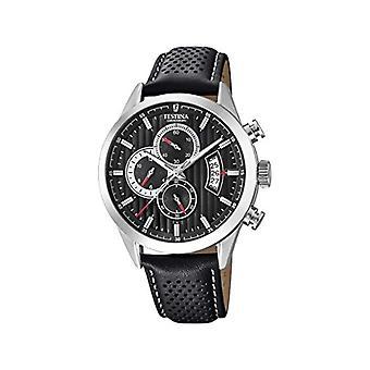Festina watch Chronograph quartz men's watch with leather F20271-6