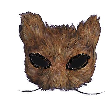 Mask Cat Feather Natural For Adults