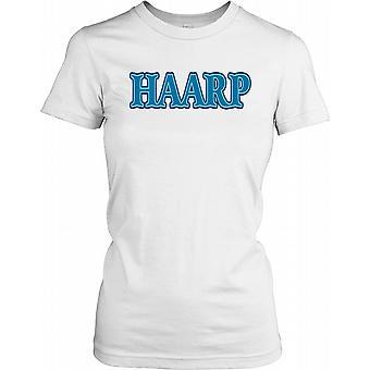 HAARP - programa de pesquisa Auroral ativo de alta frequência - conspiração feminina T-Shirt