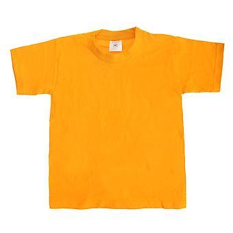 B & C crianças/crianças do exato 190 camiseta de manga curta (Pack de 2)