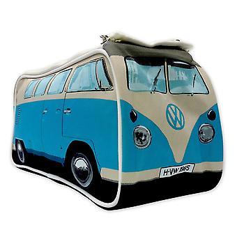 VW toaletní pytel, modrý, 100% polyester, s vnitřními komorami.