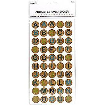 Simply Creative Alphabet & Number Stickers - Cork Circles (SCSTK006)