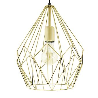 Eglo Carlton or fil ouvert Cage luminaire suspendu