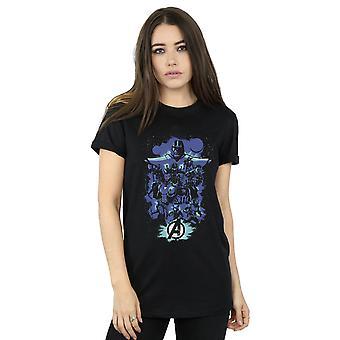 Marvel Women's Avengers Endgame ruimte sketch vriendje fit T-shirt