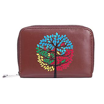 Intrigue Womens/Ladies Tree Embossed Small Purse