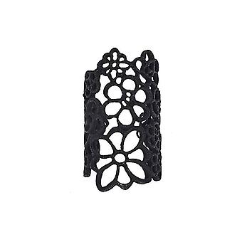 Large Elegant Flowered Lace Ring Cuff
