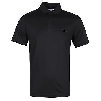 Calvin Klein Soft interlock Slim Fit musta poolo paita