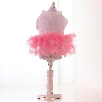 حلوى وردي توتو تنورة اللباس الكلب