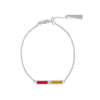 Ottawa Senators Sterling Silver Diamond Chain Chain Bracelet In Red and Gold