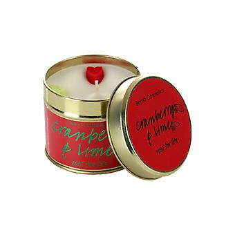 Bomb Cosmetics Tinned Candle - Cranberry & Lime