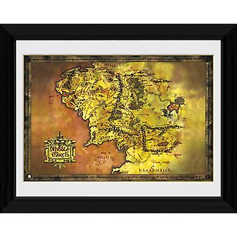 Lord Of Rings Middle Earth indrammet Collector Print 40x30cm