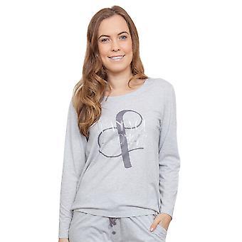 Cyberjammies 3811 vrouw Erica grijs Pajama pyjama's Top