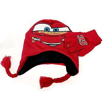 Beanie Cap Disney Cars 3 Lightning Mcqueen Hat & Glove Set 668842