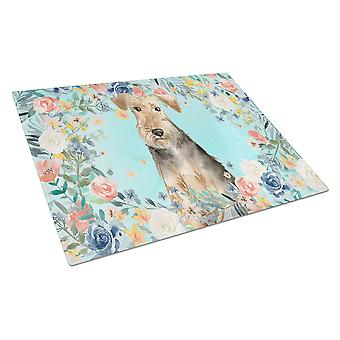 Carolines Treasures  CK3405LCB Airedale Terrier Glass Cutting Board Large