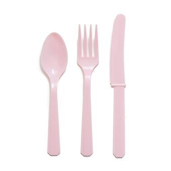 Пастельные розовый столовые приборы