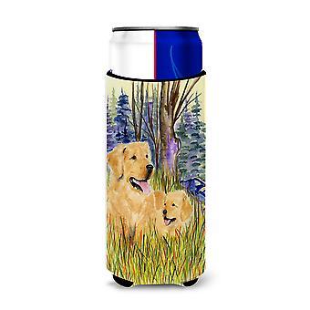 Golden Retriever Ultra Beverage Insulators for slim cans SS8014MUK