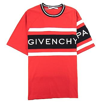 Givenchy 4G Contrasted Slim Fit T-Shirt Red/Black