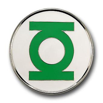 Groene lantaarn riem gesp zilveren rand