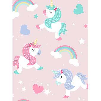 I Believe in Unicorns Wallpaper Pink World of Wallpaper A365 CAO 1