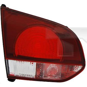 LH Tail Lamp (On Boot Lid Smoke Red/Clear Hatchback) For GOLF mk6 2008-2013