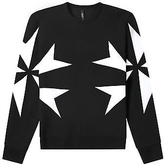 Neil Barrett Stern Grafik Print Sweatshirt
