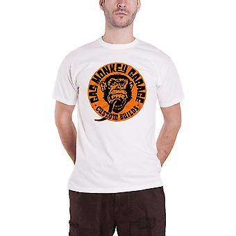 Gaz singe Garage T Shirt personnalisé construit Logo nouveau officiel Mens blanc