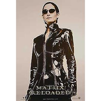The Matrix Reloaded (Single Sided Advance Reprint Trinity Full Body) Reprint Poster
